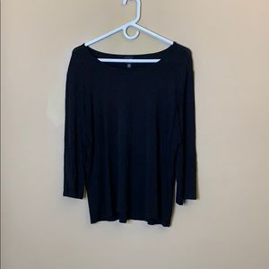 Eileen Fisher black 3/4 sleeve tee
